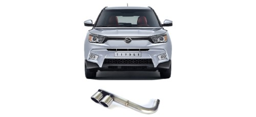 A.JUN TUNING TWIN TAIL MUFFLER KIT FOR SSANGYONG TIVOLI 2012-17 MNR