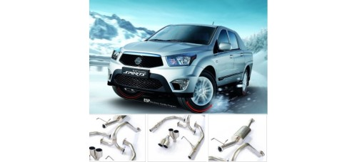 A.JUN TUNING DUAL MUFFLER KIT FOR SSANGYONG KORANDO SPORT 2012-16 MNR