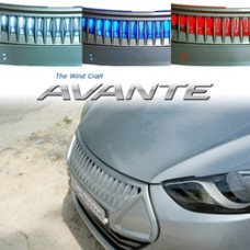 ARTX-LED RADIATOR TUNING GRILLE FOR HYUNDAI AVANTE MD / ELANTRA 2010-13 MNR