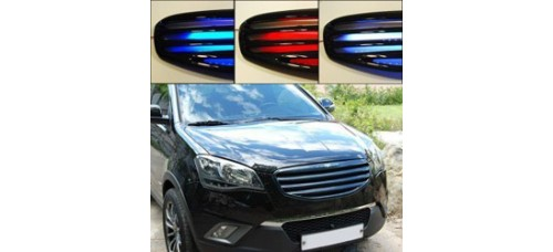 ARTX LED LUXURY GENERATION CARBON TUNING GRILLE SET SSANGYONG KORANDO C 2011-13 MNR