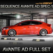 SEQUENCE SPEC-1 FULL BODY KIT SET FOR HYNDAI AVANTE AD 2015-17 MNR