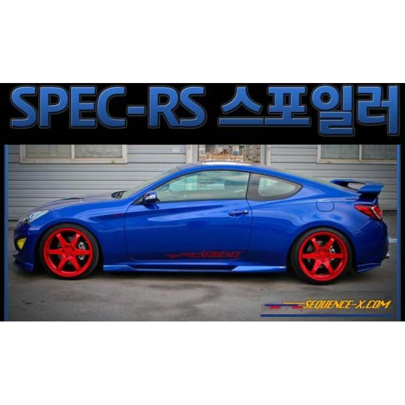 Sequence Spec Rs Rear Spoiler For Hyndai New Genesis Coupe
