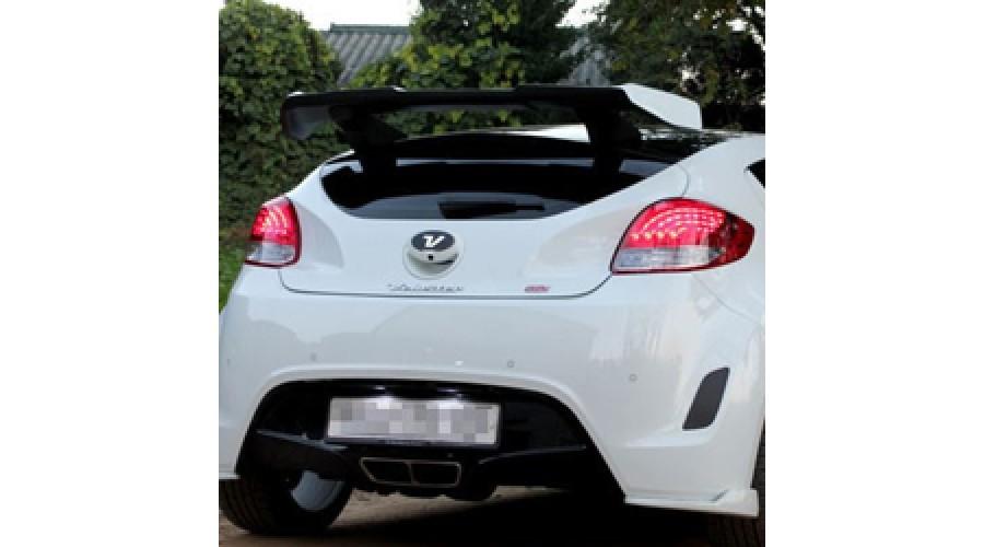 Myride Gt Wing Rear Roof Spoiler For Hyundai Veloster 2011