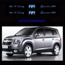 ARTX LUXURY GENERATION CHROME LED DOOR SILL SCUFF PLATES FOR CHEVROLET ORLANDO 2011-13 MNR