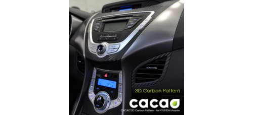 CACAO 3D CARBON PATTERN FOR HYUNDAI AVANTE MD / ELANTRA 2010-15 MNR
