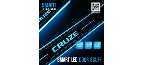 DXSOAUTO SMART LED DOOR SILL SCUFF PLATES SET FOR CHEVROLET CRUZE 2011-14 MNR