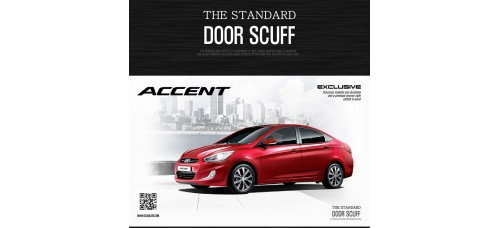 DXSOAUTO THE STANDARD AL DOOR SILL SCUFF PLATES SET HYUNDAI NEW ACCENT 2011-15 MNR