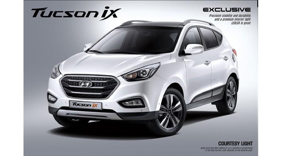 Dxsoauto hyundai new tucson ix smart led door sill scuff for Smart motors tucson reviews