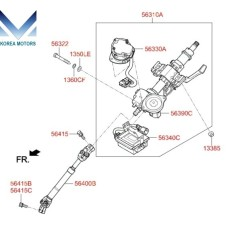 MOBIS COLUMN ASSY-STEERING SET FOR HYUNDAI TUCSON TL 2015-17 MNR