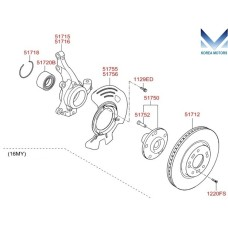 MOBIS NEW FRONT AXLE SET FOR KIA RONDO / CARENS 2013-16 MNR