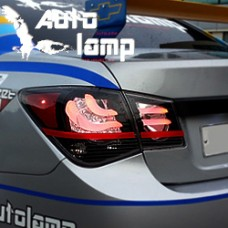 AUTO LAMP CHEVROLET CRUZE - EUROPEAN STYLE LED TAILLIGHTS SET FOR 2011-14 MNR