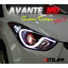 AUTO LAMP LINE CUSTOM LED HEADLIGHTS VER.3 HYUNDAI AVANTE MD / ELANTRA 2010-12 MNR
