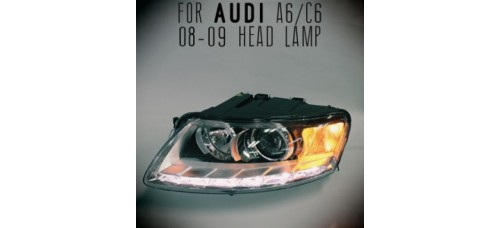 AUTO LAMP LED PROJECTOR HEADLIGHTS FOR AUDI A6/C6 2007-11 MNR