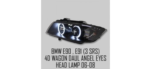 AUTO LAMP  LED DUAL ANGEL EYES PROJECTOR HEADLIGHTS FOR BMW E90 / E91 2006-08 MNR