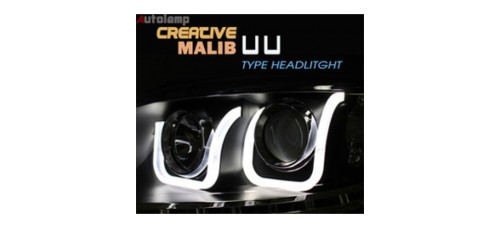 AUTO LAMP CREATIVE LED UU STYLE HEADLIGHTS SET (GM594-B2H) FOR CHEVROLET MALIBU 2012-13 MNR