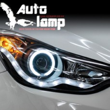 AUTO LAMP AUDI STYLE CCFL LED HEADLIGHTS VER.4 FOR HYUNDAI AVANTE MD / ELANTRA 2010-13 MNR