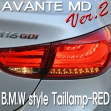 AUTO LAMP F10 STYLE VER.2 LED TAIL LAMP (RED TYPE) FOR HYUNDAI AVANTE MD / ELANTRA 2010-13 MNR