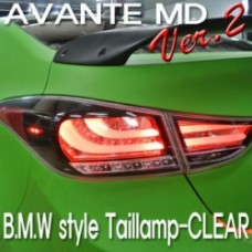 AUTO LAMP F10 STYLE VER.2 LED TAILLIGHTS SET (CLEAR TYPE) HYUNDAI AVANTE MD / ELANTRA 2010-13 MNR