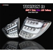 AUTO LAMP -BMW F10-STYLE LED TAILLIGHTS (CLEAR BLACK) FOR HYUNDAI TUCSON IX 35 2009-13 MNR