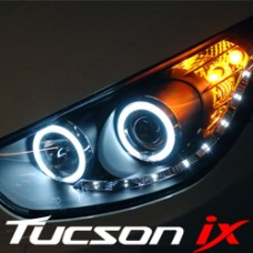 AUTO LAMP AUDI CCFL LED DUAL ANGEL EYE HEADLIGHTS SET HYUNDAI TUCSON IX35 2009-13 MNR