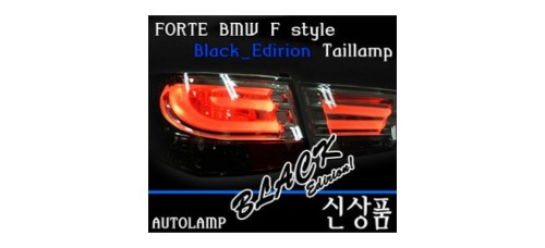 AUTO LAMP BMW F-STYLE LED TAILLIGHTS (BLACK SPECIAL) FOR KIA FORTE / CERATO 08-12 MNR