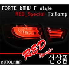 AUTO LAMP BMW F-STYLE LED TAILLIGHTS (RED SPECIAL) KIA FORTE / CERATO 2008-12 MNR