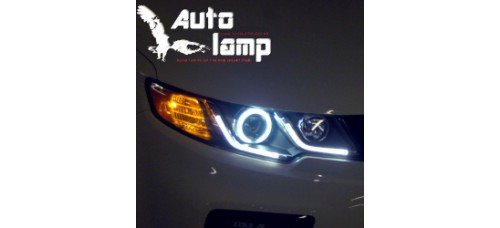 AUTOLAMP CCFL LED HEAD LIGHTS VER.2 (BLACK BEZEL)  FOR KIA FORTE / KOUP 2009-12 MNR