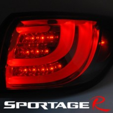 AUTO LAMP  - BMW-STYLE LED TAILLIGHTS SET (BLACK EDITION) FOR KIA SPORTAGE R 2010-13 MNR
