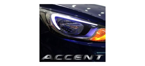 EXLED HYUNDAI NEW ACCENT - 1-WAY EYELINE LED MODULE SET