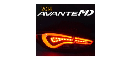EXLED PANEL LIGHTING REAR POWER LED BRAKE MODULES SET FOR HYUNDAI THE NEW AVANTE MD 2013-15 MNR