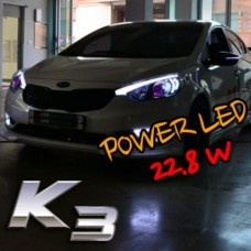 EXLED  - 1533L2 POWER LED EYELINE UPGRADE MODULE DIY KIT (2WAY) FOR KIA K3 CERATO 2012-14 MNR