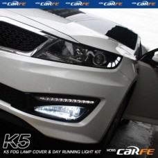MOBIS FOG LAMP COVER & LED DAY RUNNING LIGHT KIT FOR KIA K5 / OPTIMA 2010-13 MNR