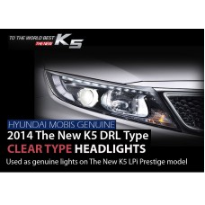 MOBIS LED DRL CLEAR TYPE HEADLIGHTS SET FOR KIA NEW K5 / OPTIMA 2013-14 MNR