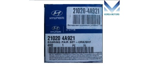 NEW BEARING PAIR SET-CRK/SHF FOR DIESEL ENGINE D4HB FROM MOBIS FOR HYUNDAI KIA 2010-15 MNR