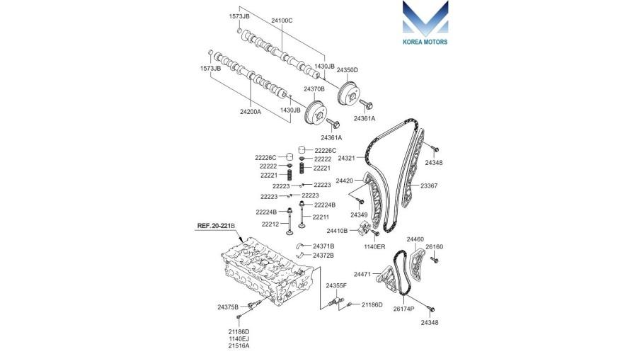 Mobis Timing Chain Kit Of Engine G4kd For Kia    Hyundai