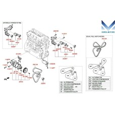 MOBIS COOLANT PIPE HOSE AND PUMP ASSY KIT OF G4KE ENGINES FOR HYUNDAI KIA 2007-20 MNR