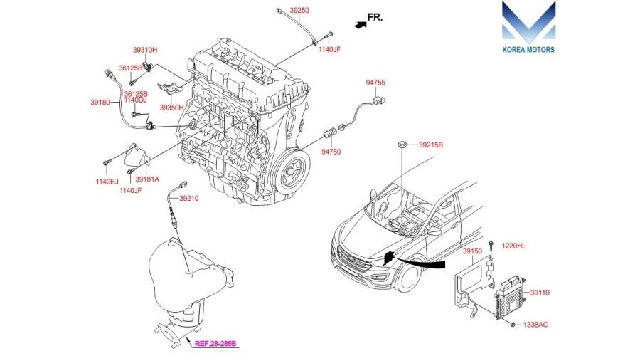MOBIS G4KE ENGINES FOR HYUNDAI KIA 2007-20 MNR- at discount rate -  39000-G4KE-MPI | Hyundai 4 Cylinder Engine Diagram |  | Shop KOREA MOTORS