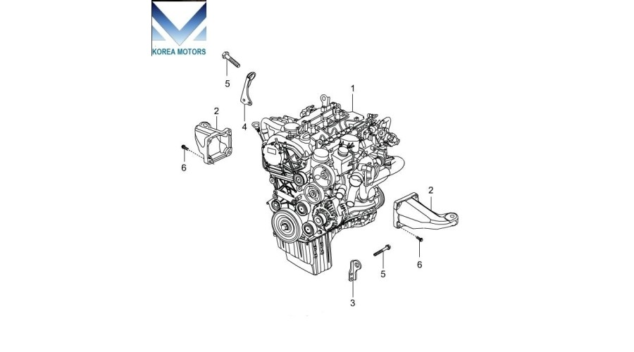 used engine diesel d20dtr euro  actyon 2012
