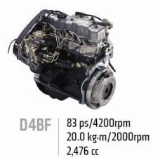 NEW ENGINE DIESEL D4BF D4BH D4BB EURO-2-3 ASSY-COMPLETE SET MOBIS 2015 MNR