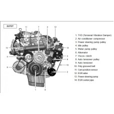 NEW ENGINE DIESEL D27DT SET ASSY-SUB 4WD EURO-4 FOR SSANG YONG REXTON / KYRON 2009-11 MNR