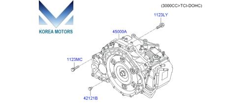 MOBIS USED TRANSMISSION ASSY-ATA 4WD SET FOR HYUNDAI VERACRUZ / IX55 2006-15 MNR
