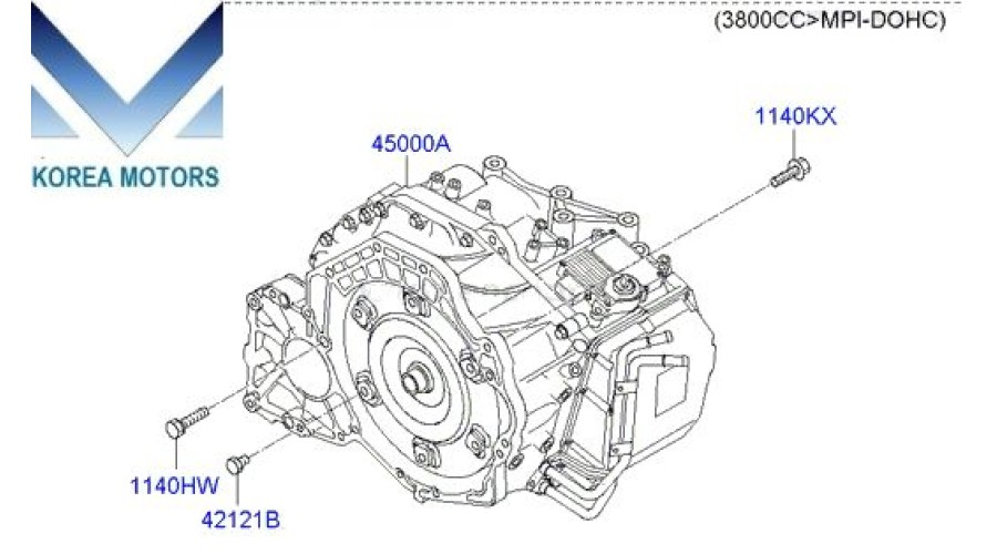 Mobis Used Transmission Assy Ata 4wd Set For Hyundai