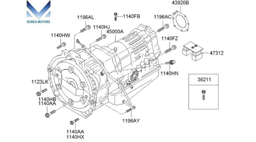 kia sorento d4cb engine wiring diagrams new transmission assy ata 4wd set for kia sorento 2006  assy ata 4wd set for kia sorento 2006