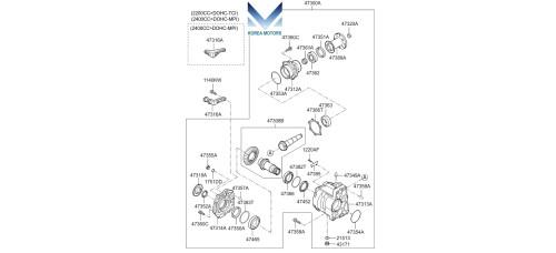 NEW TRANSFER ASSY-MT 4WD SET FOR KIA SORENTO 2009 –12 MNR