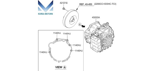 NEW TRANSMISSION ASSY-ATA 4WD SET FOR KIA SORENTO R 2012-14 MNR