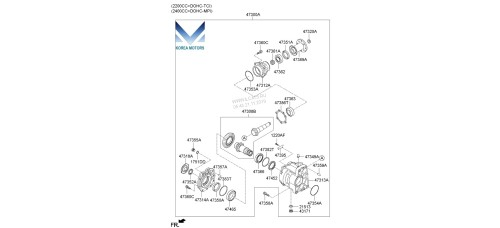 NEW TRANSFER ASSY-ATA 4WD SET FOR KIA SORENTO 2012 –14 MNR