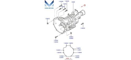 USED MANUAL TRANSMISSION 5-SPEED 2WD SET FOR HYUNDAI STAREX H-1 2007-20 MNR