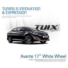 "TUIX 17"" WHITE ALLOY WHEELS SET FOR HYUNDAI ELANTRA AVANTA 2010-15 MNR"