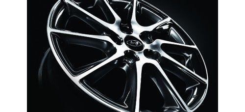 "TUIX 17"" DARK GRAY ALLOY WHEELS SET FOR HYUNDAI ELANTRA AVANTA MD 2010-15 MNR"