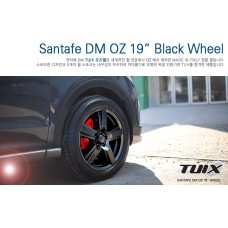 TUIX OZ 19 WHEEL BLACK SET FOR HYUNDAI SANTA FE DM / IX45 2012-15 MNR